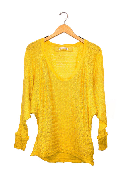 Free People Thien's Hacci Top yellow