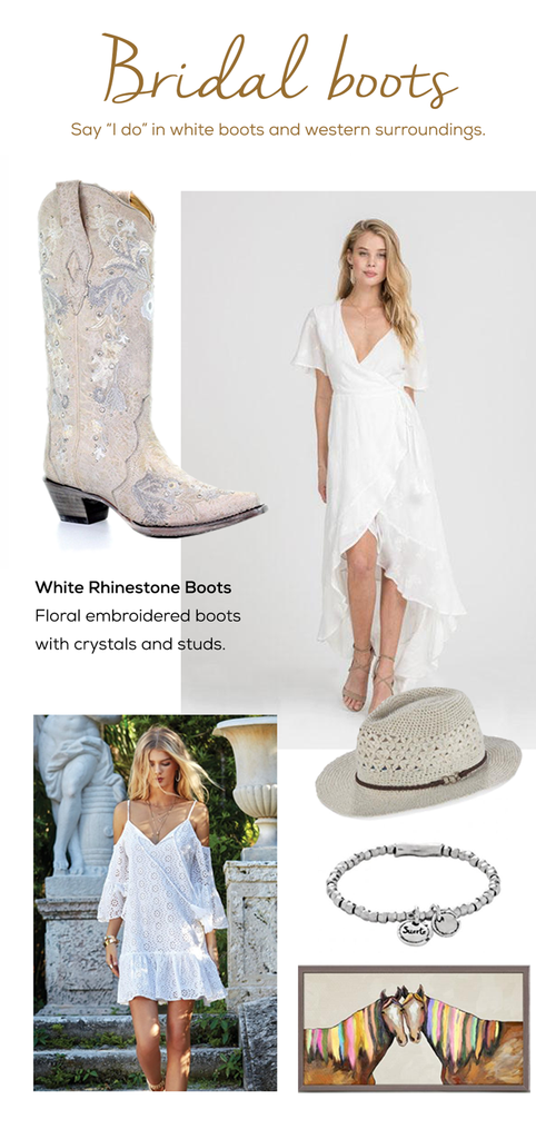western chic wedding dress cowboy boots ruby jane valleygirl boutique colorado