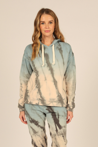 Tie-Dye Burnout Hoodie, Neutral Wonderland
