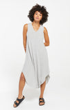 Reverie Midi Dress, Heather Grey