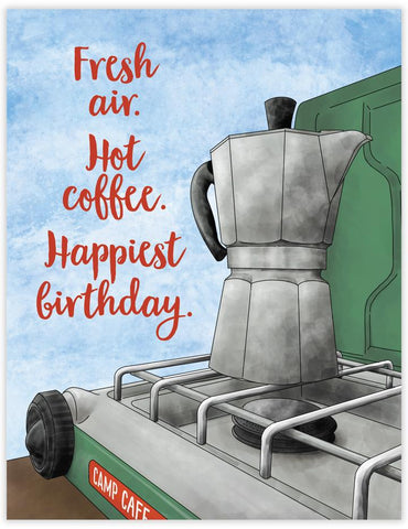 Camp Coffee Birthday Card