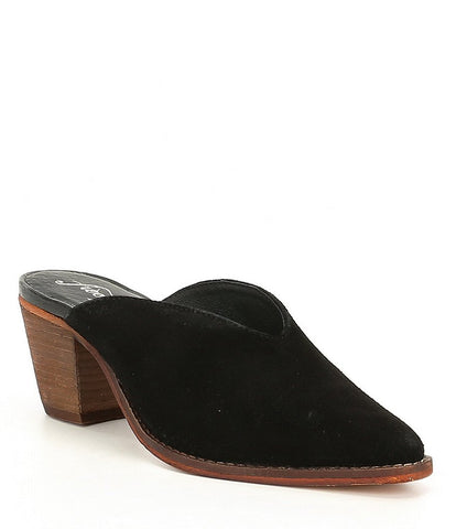 Anya Black Suede Mule Sale Free People