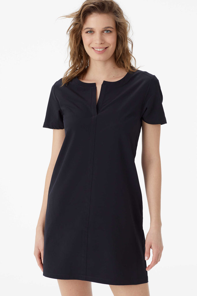 Gateway Short Sleeve Dress, Black