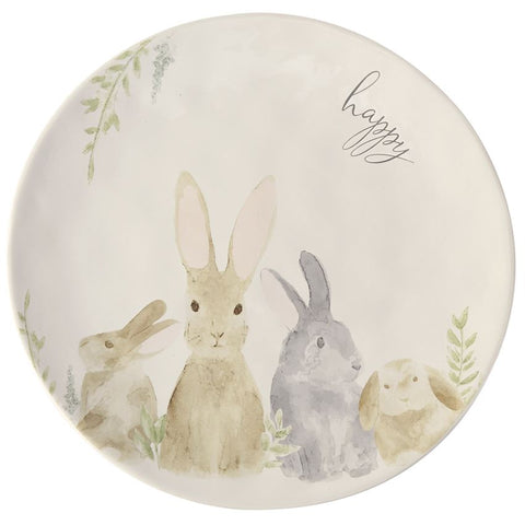 Watercolor Bunny Platter