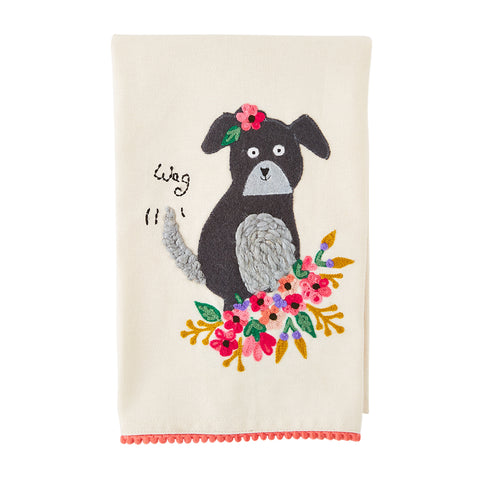 Wag Embroidered Towel