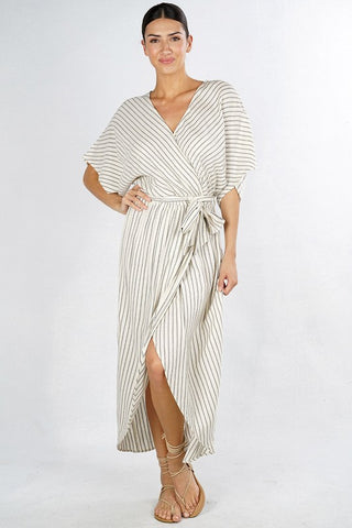 Jacinda Striped Wrap Maxi