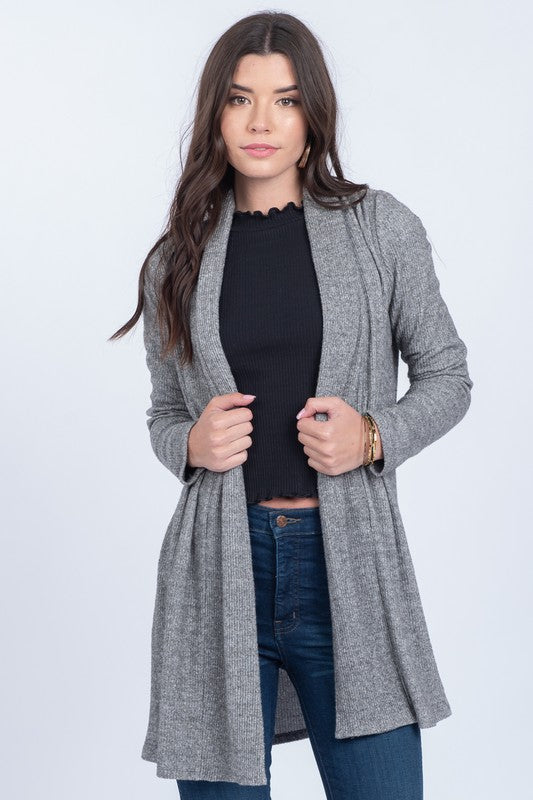 Sela Ribbed Cardigan