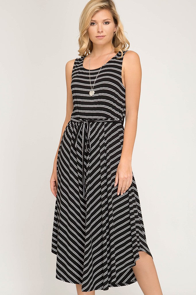 Emme Striped Midi Dress