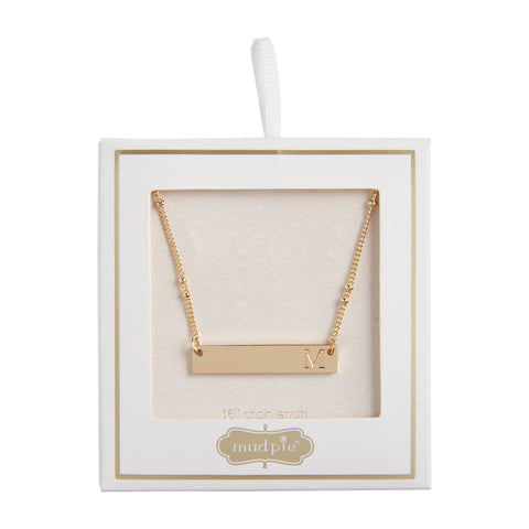 Initial Bar Necklace, M