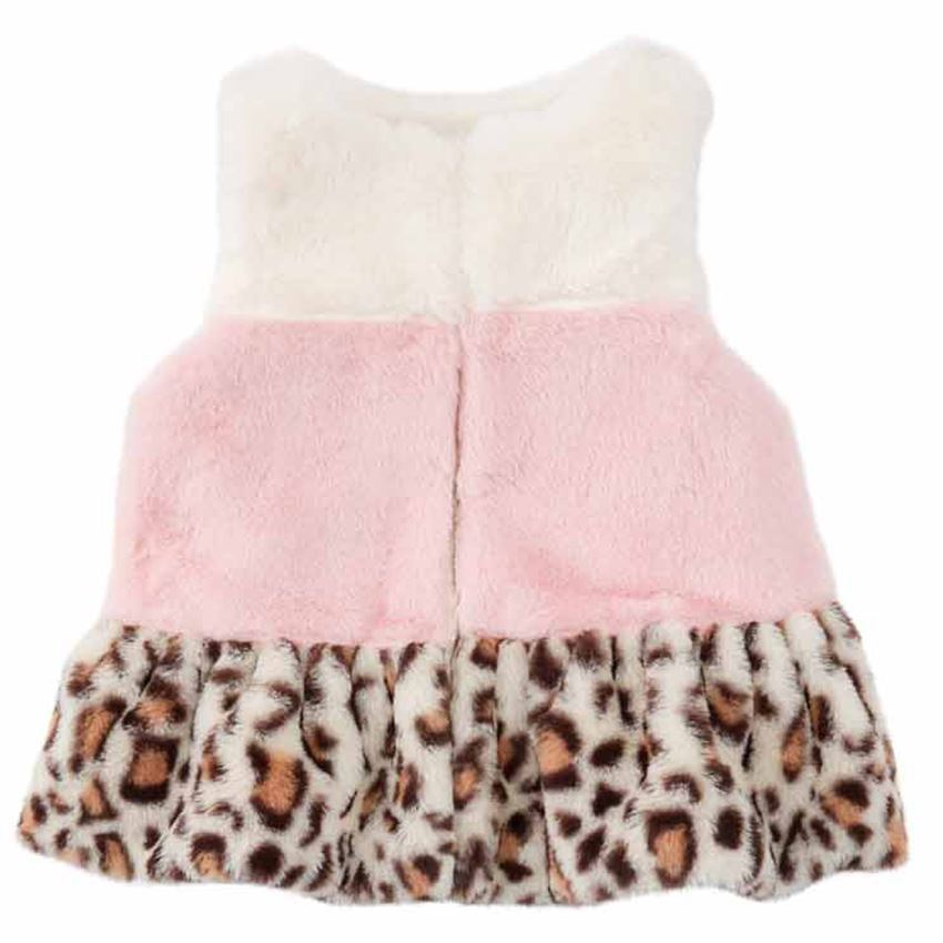 Girls Layered Leopard Vest