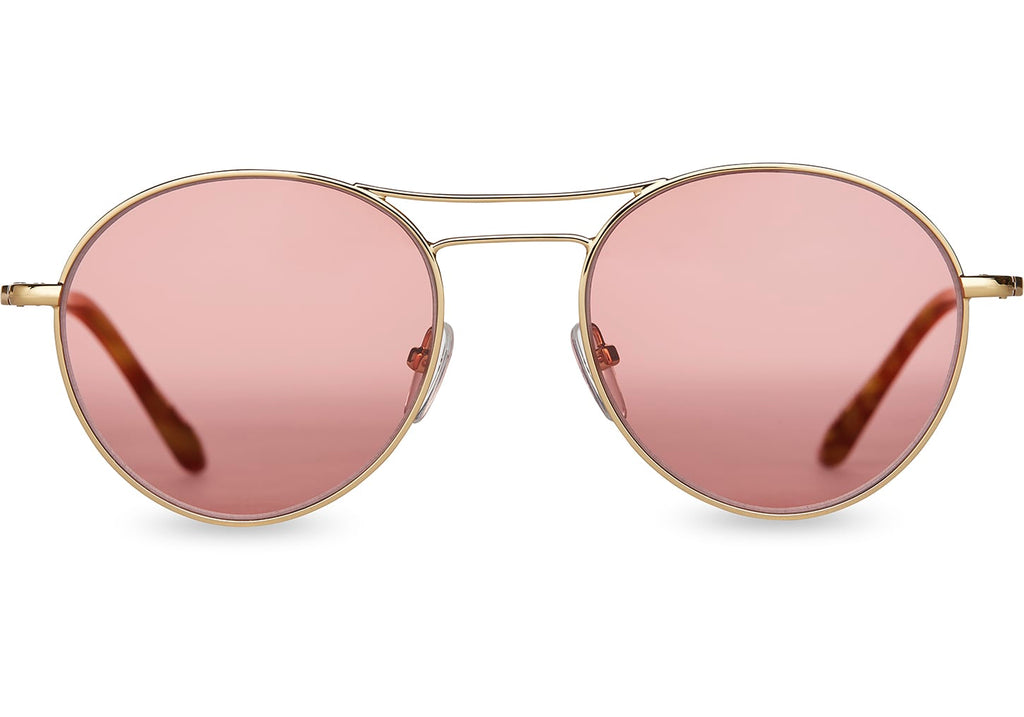 TOMS Melrose Sunglasses in Gold And cherry
