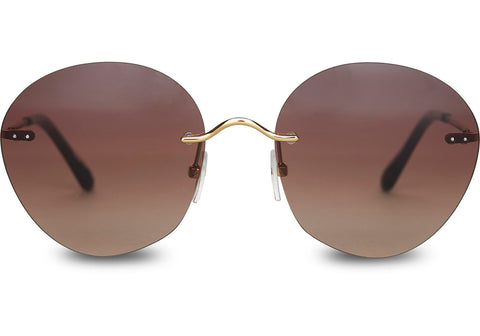 TOMS Clara Sunglasses In Gold