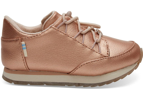 Bixby Rose Gold Sneaker For Kids By TOMS