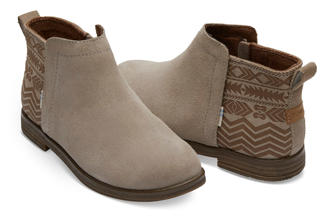 Kids TOMS Deia Bootie In Taupe