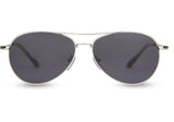 TOMS Kilgore Sunglasses In Shiny Silver