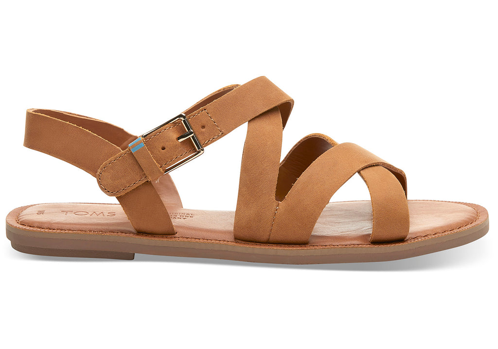 Tom Tan Leather Women's Sicily Sandals