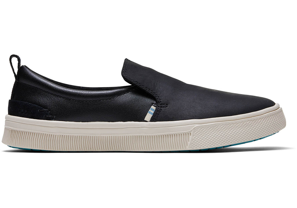 Toms TRVL LITE Slip-On in Black Leather