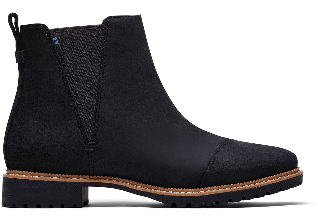 TOMS Water Resistant Leather Cleo Boots