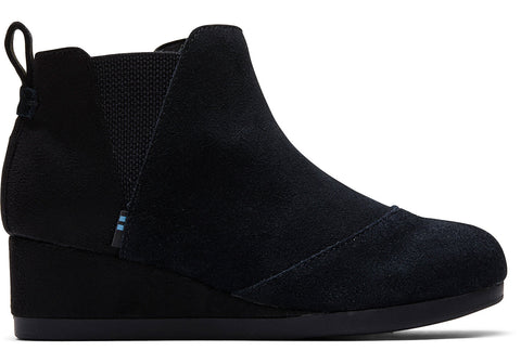 Kids TOMS Kelsey Booties In Black