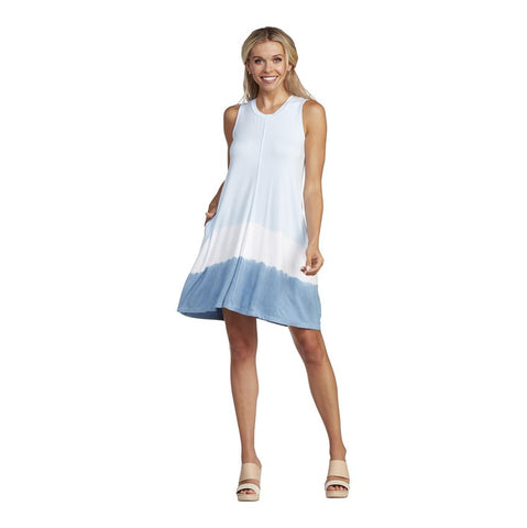 Baylor Swing Dress, Blue