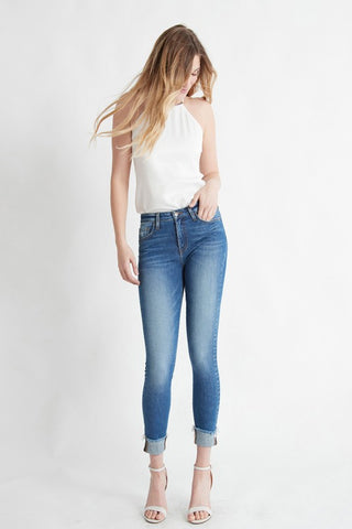 Vista High Rise Cuffed Skinny Jeans