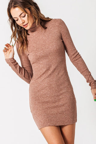 Kara Knit Dress in Brown
