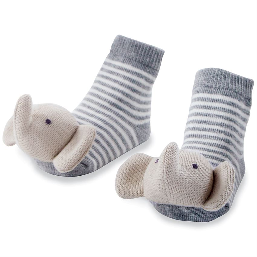 Elephant Rattle Toe Socks