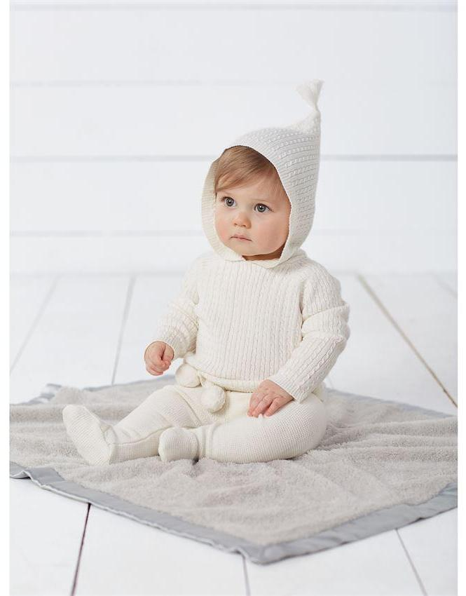 Ivory Cable Knit Baby Hoodie