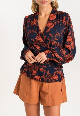 Bailey Floral Wrap Blouse