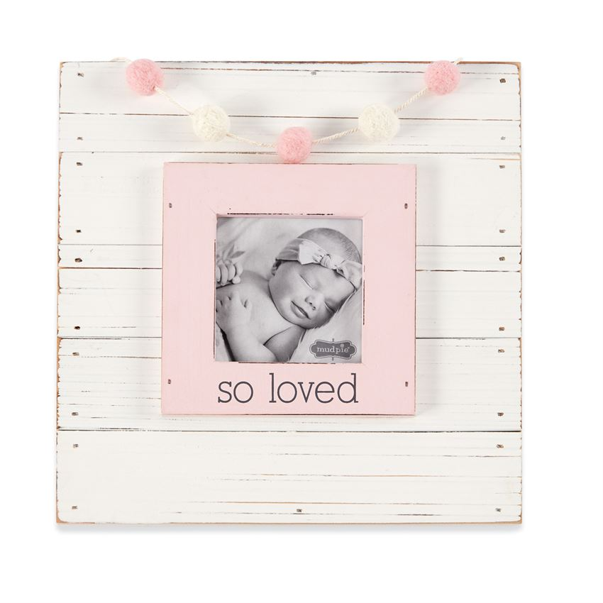 So Loved Pink Garland Frame