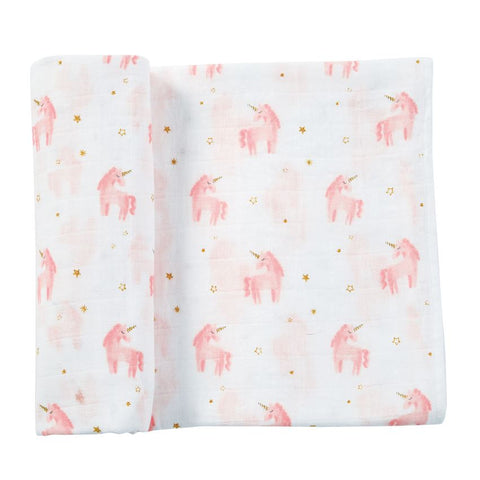 Muslin Unicorn Swaddle Blanket