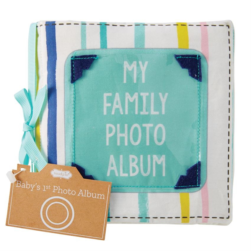 Baby's First Photo Album In Fabric