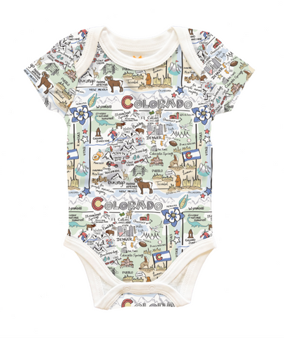 Colorado Map Baby One-Piece, 3-6 Mo