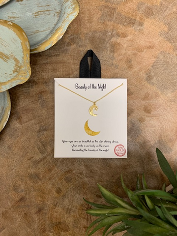 'Beauty Of The Night' Necklace, Gold