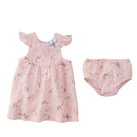 Unicorn Baby Dress Set
