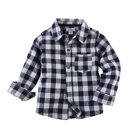 Blue Buffalo Check Flannel Button-Down Shirt