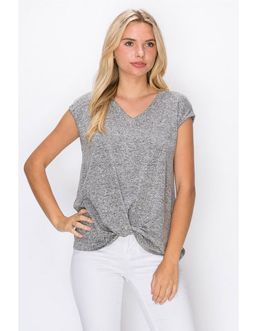 Intermingle Twist Front Top