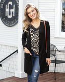 Casual Silky Soft Cardigan by Grace & Lace, Black