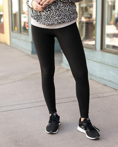 Live-In Pocket Leggings By Grace & Lace, Black