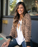 Cheetah Dot Bomber Jacket By Grace & Lace