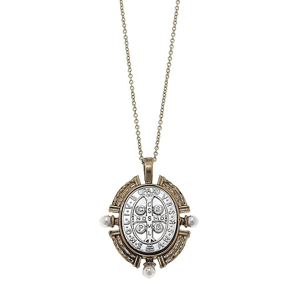 Mira San Benito Coin Pendant Necklace