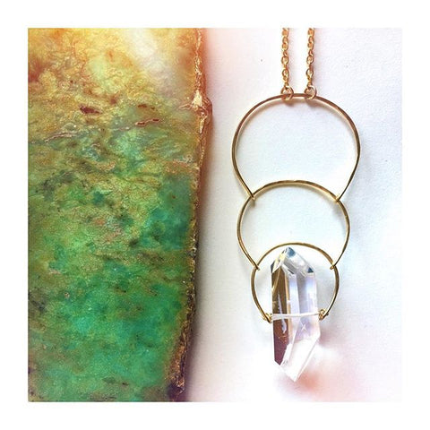 Solstice Crystal Gold Necklace