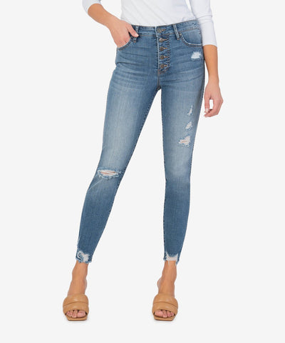 Connie High Rise Ankle Skinny, Appeasing Wash