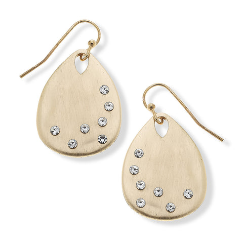Carolina Gold Tear Drop Earrings