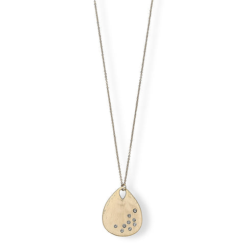 Carolina Teardrop Gold Pendant