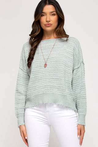 Harlen Textured Knit Sweater