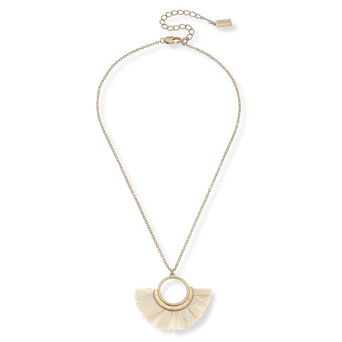 Rainey Raffia Necklace