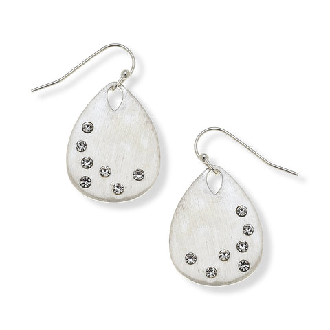 Carolina Silver Tear Drop Earrings