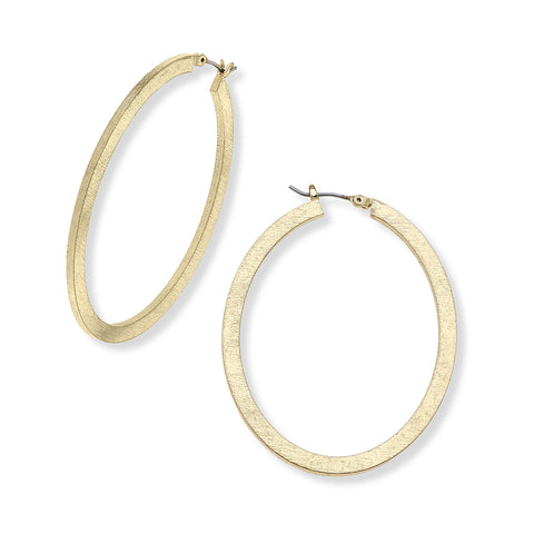 Cate Oval Hoop Earrings
