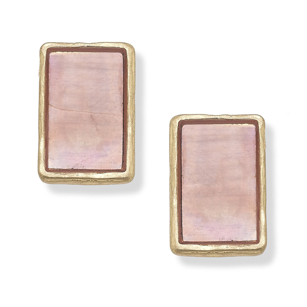 Blaire Pink Stud Earrings